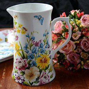 Creative Tops Katie Alice English Garden Shabby Chic Tall Porcelain Jug Multi Colour 0 0