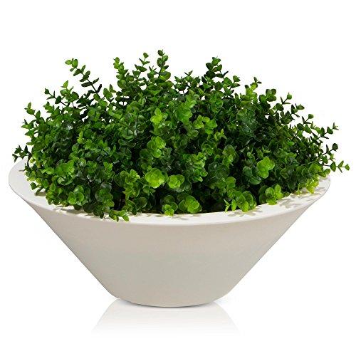 Plastic Planter TAZA 22 Plant Bowl 60x60x22 cm white matt surface 0