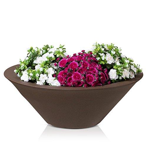 Plastic Planter TAZA 29 Plant Bowl 80x80x29 cm bronze matt surface 0