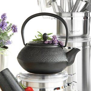 VonShef Tetsubin Japanese Style Cast Iron Black Hobnail Teapot 08L5 Cups Free 2 Year Warranty 0 0