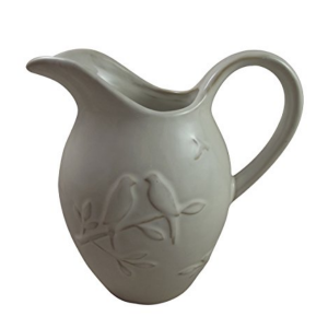 White Love Birds Ceramic Jug